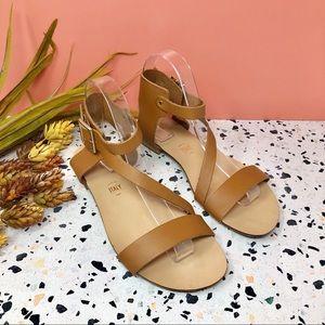 Seychelles Tan Cross Strap Side Buckle Sandals 7.5